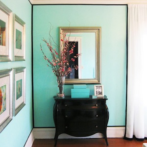 Tiffany Blue Paint Color , Transitional, bedroom, Benjamin Moore Costal Paradise, 655