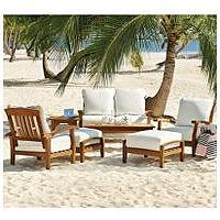Seating - Teak Seating Set - 7 pc. - Sam's Club - teak seating