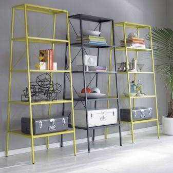 Cb2 Hancock Chartreuse Bookcase