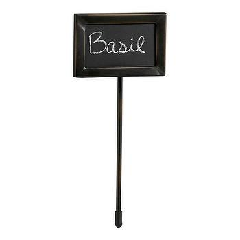 Decor/Accessories - Chalkboard Herb Marker | Crate&Barrel - chalkboard, herb, marker