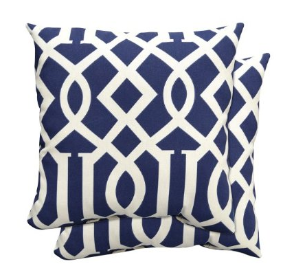 Navy Blue Throw Pillows Target : Navy Blue Kelly Wearstler Imperial Trellis Pillow Look 4 Less!