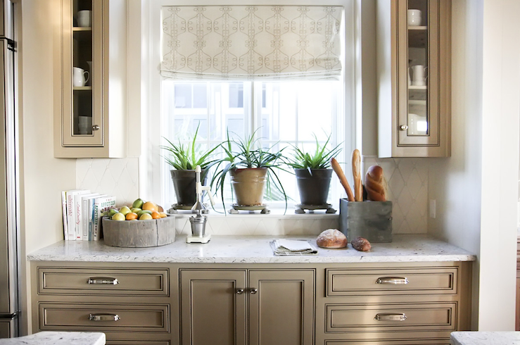 Taupe Kitchen Cabinets Transitional Kitchen Urban Grace Interiors
