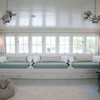 Adorable Gender Neutral Playroom Design With White Beadboard Cathedral