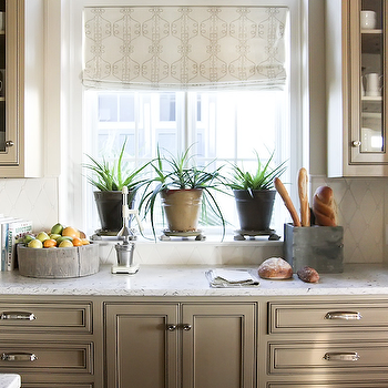 Taupe Kitchen Cabinets, Transitional, kitchen, Urban Grace Interiors