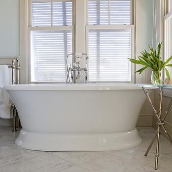 Bamboo Tripod Table, Transitional, bathroom, Urban Grace Interiors