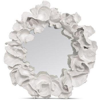 Mirrors - White Coco Coral Mirror glamorous wall decor - white, coco, mirror