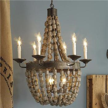 Lighting - Beaded Basket Chandelier (ETA 1/24/11) 2 finishes! - Shades of Light - beaded basket chandelier