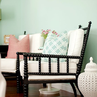 Belmont Design Group - living rooms - glossy, black, beaded, white, carthage, pierced, covered, lantern, Braemore, turquoise, blue, joy, fabric, pillow, blue, green, walls, abacus chair, black abacus chair, , Abacus Relax Chair, Large Carthage Pierced Covered Lantern,