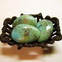 Art/Wall Decor - The Trio Med Tumbled Turquoise Rock Soap by amethystsoap on Etsy - Turquoise, soap