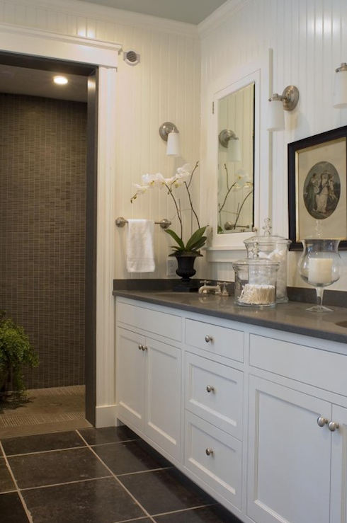 Beadboard Backsplash - Transitional - bathroom - McCoppin Studios
