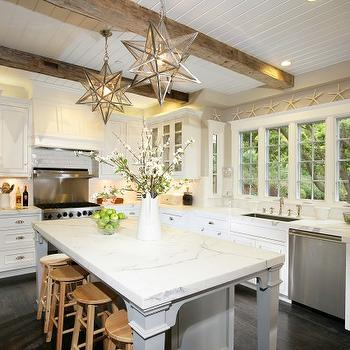Kitchen with Beadboard Ceiling, Cottage, kitchen, McCoppin Studios