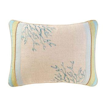 Pillows - Natural Shells Coral Pillow - pillow
