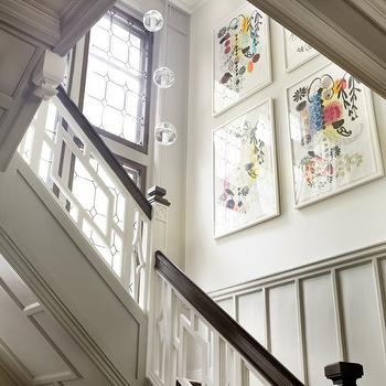 LDa Architects - entrances/foyers - staircase art, geometric staircase,  Marvelous entrance foyer staircase design with glorious woodwork, glass