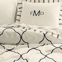 Metro Hotel Style Black And White Mosaic Duvet Cover Set