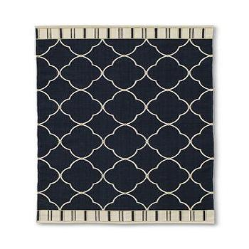 Rugs - Copper Harbor Throw Rugs from Lands' End - blue, moorish tiles, rug