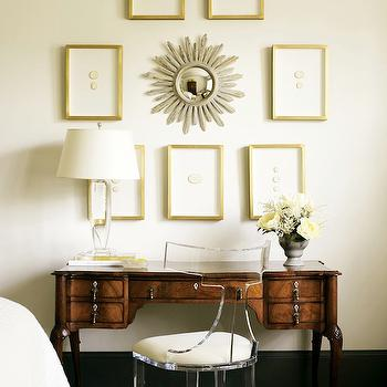 Lucite Chair, Transitional, den/library/office, Atlanta Homes & Lifestyles