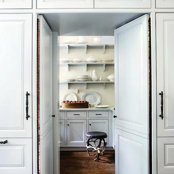 Atlanta Homes & Lifestyles - kitchens - walk in pantry, hidden pantry, hidden pantry ideas,  Stanley Dixon & Betty Burgess - Gorgeous pantry