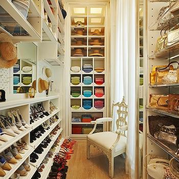 Shelves for Shoes, Contemporary, closet, Closette
