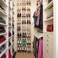 Melanie Fascitelli - closets - shoe racks, runner, built-ins, shoe cabinet, shoe cabinets, shoe shelves, shelves for shoes, shoe storage, shoe closet, closet shoe shelves, shoe racks, closet shoe racks,