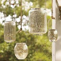 Decor/Accessories - Paros Mercury Glass Lanterns | Pottery Barn - paros, mercury, glass, lanterns