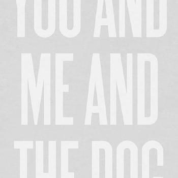 Art/Wall Decor - You and Me and the Dog by ashleyg on Etsy - etsy, art