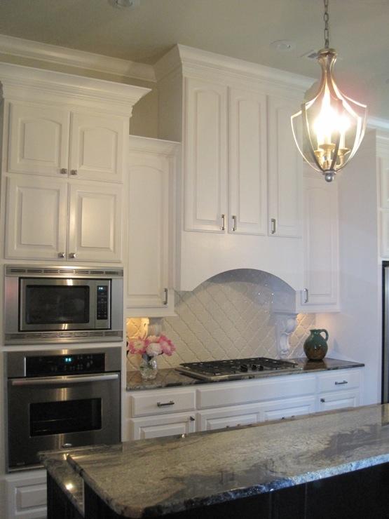 curved range hood transitional kitchen benjamin