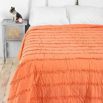 Bedding - UrbanOutfitters.com > Tuxedo Ruffle Quilt - ruffle quilt