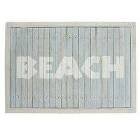 Art/Wall Decor - Amazon.com: Concepts Frames, Blue and White Distressed Wooden Wall Sign. Beach 12.5 x 18 Inches: Home & Garden - beach sign
