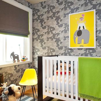 Jute interior Design - nurseries - lime green throw, green throw, lime green throw blanket, modern crib, contemporary nursery, boys nursery, boy nursery, gray roman shade,