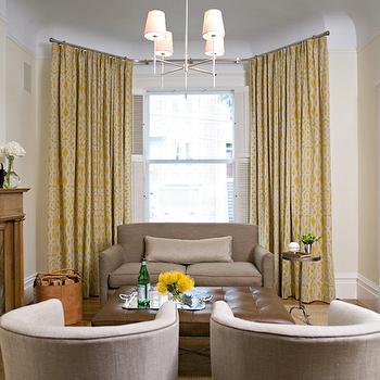 Trellis Curtains, Transitional, living room, Jute interior Design