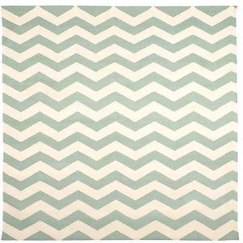Rugs - Zig Zag Jaipuri 9x12::9 x 12::RUGS::HOME::Calypso St. Barth - turquoise, zigzag, chevron, rug