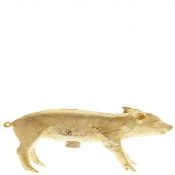 Decor/Accessories - Pig Bank :: ACCESSORIES :: DECOR  :: HOME :: Calypso St. Barth - gold, piggy bank