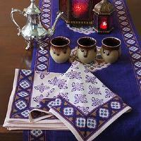 Decor/Accessories - Sultan&#039;s Palace ~ Moroccan Vintage Print Fancy Dinner Napkins - moroccan, napkins, table runner