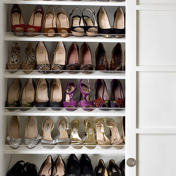 Melanie Fascitelli - closets - shoe cabinet, shoe cabinets, shoe shelves, shelves for shoes, shoe storage, shoe closet, closet shoe shelves, shoe racks, closet shoe racks, shoe closet,