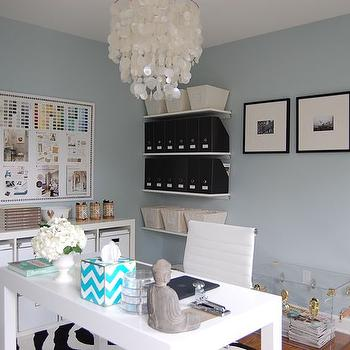 Blue Grey Paint, Contemporary, den/library/office, Benjamin Moore Smoke