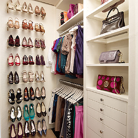 Melanie Fascitelli - closets - glass, shelves, shoe cabinet, shoe cabinets, shoe shelves, shelves for shoes, shoe storage, shoe closet, closet shoe shelves, shoe racks, closet shoe racks,