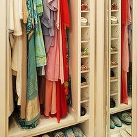 Melanie Fascitelli - closets - built-in closet shelves, walk-in closets, closet built-ins, closet built-in cabinets, white closet cabinets, closet shelves, white closet shelves,