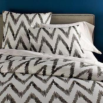 Bedding - Organic Chevron Duvet Cover + Shams | west elm - gray, chevron, zigzag, duvet, bedding