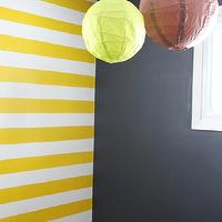 boy's rooms - Benjamin Moore - Yolk - Hudson's, Striped, Wall,  Yellow Stripes