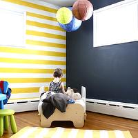 boy's rooms - newyorknurserytales.blogspot.com, Hudson's striped Big Boy Room, Striped Nursery, Chalkboard Wall, striped nursery, striped nursery walls, yellow striped walls, yellow striped nursery, yellow striped nursery walls,