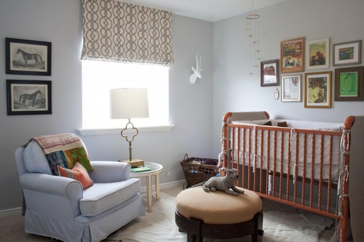 Orange Crib Transitional Nursery Alice Lane Home