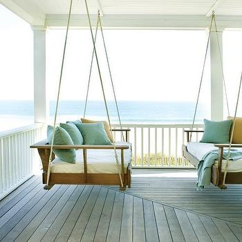 porches - wraparound porch, swinging sofas, hanging sofa, rope hanging sofa, hanging rope sofa, wraparound porch,  Pinterest  Large wraparound