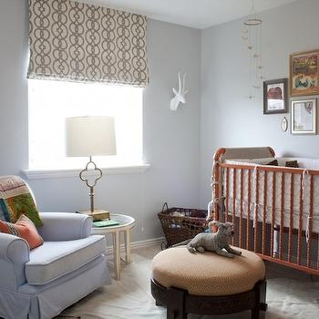 Orange Crib, Transitional, nursery, Alice Lane Home