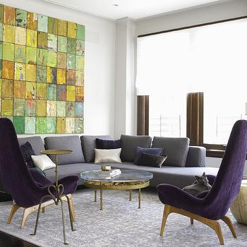 Gray and Purple Living Room, Modern, living room, Jarlath Mellett