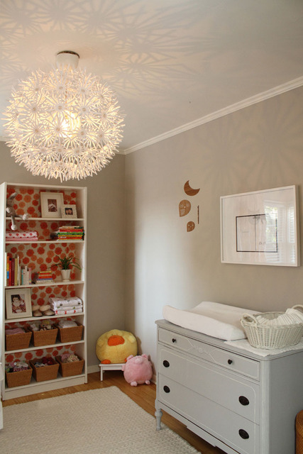 Ikea Chandelier Transitional Nursery Apartment Therapy
