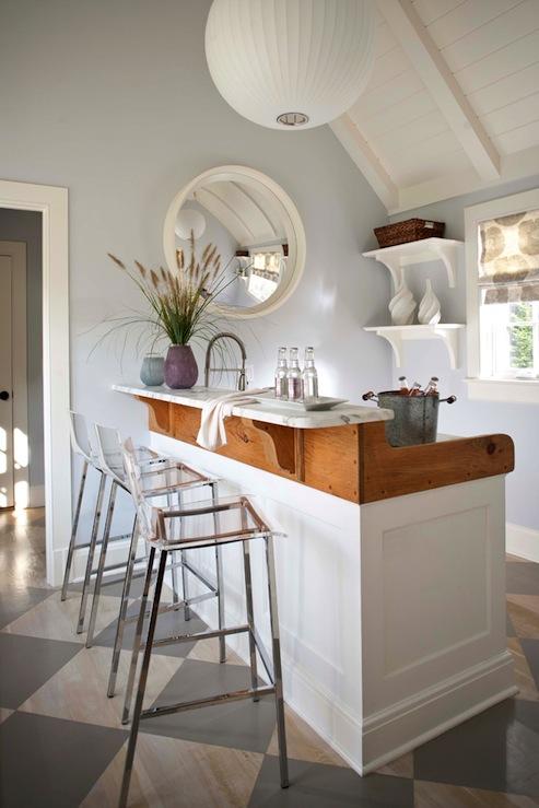 Cb2 Vapor Barstools Cottage Kitchen Muse Interiors