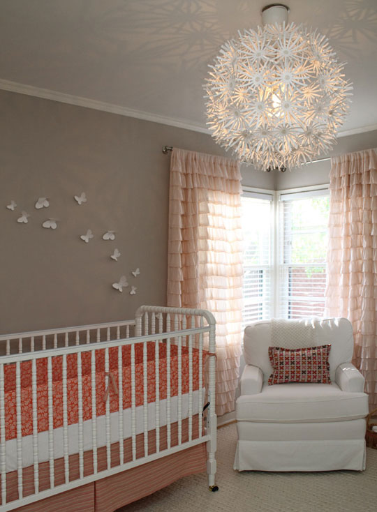 Ruffle Drapes Contemporary Nursery Apartment Therapy