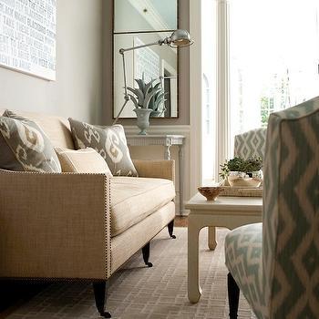 Bansuri Ikat Pillows, Transitional, living room, Muse Interiors