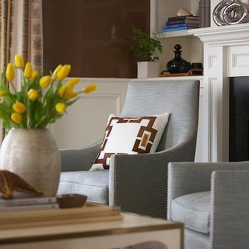 Living room wainscoting design decor photos pictures for Sky blue living room ideas