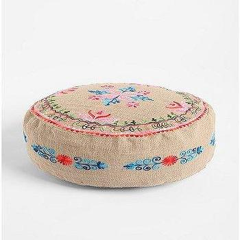 Seating - UrbanOutfitters.com > Fleur Embroidered Pouf - Fleur, Embroidered, Pouf